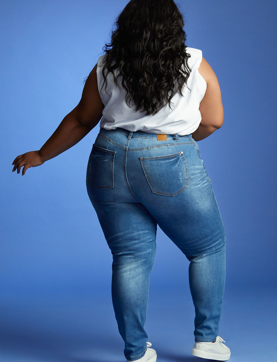 Viola Fit Peach Lift Distressed Skinny Jean
