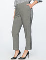 Slim Leg Trouser With Side Stripe Dark Heather With White/Black