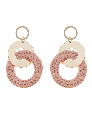 Rattan Circle Drop Earrings