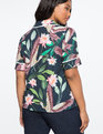 Printed Pajama Top Birds of Paradise