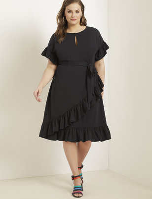Short Sleeve Ruffle Dress