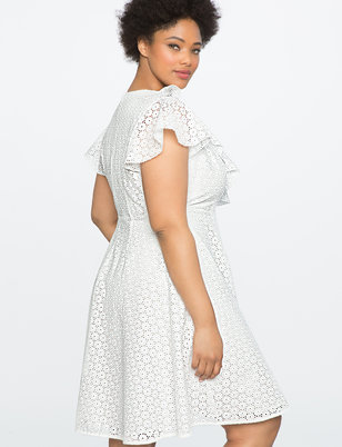 Studio Eyelet Wrap Dress
