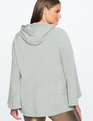 Flare Sleeve Hooded Sweatshirt Grey Heather