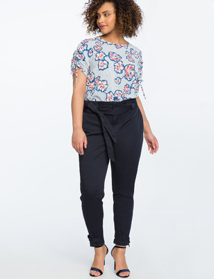 Paperbag Waist Trouser with Ankle Tie