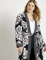 Mixed Print Duster Black + Cream Dot