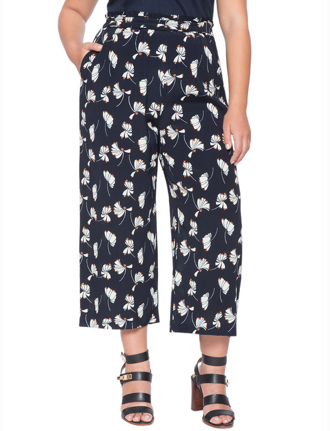 Printed Cropped Flare Pant