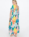 Kimono Maxi Dress Coverup Woman In Front of the Sun