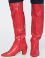 Dominique Tall Boot Red