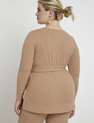 Ribbed Tunic with Side Slits