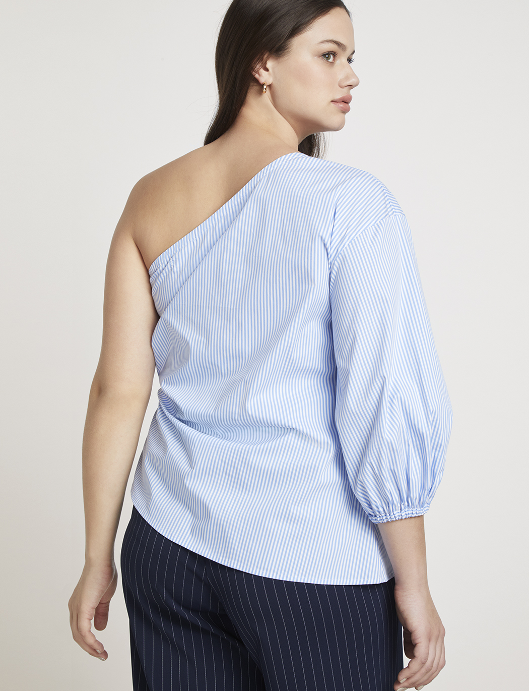 Jason Wu/ELOQUII One Shoulder Puff Sleeve Blouse