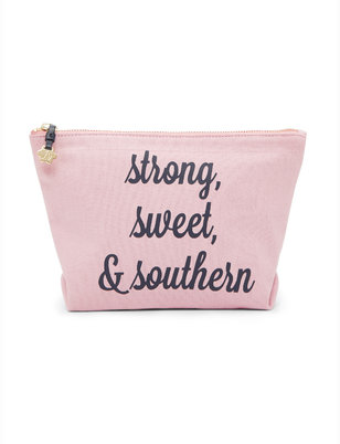 Draper James Strong Sweet and Southern Canvas Pouch