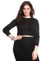Open Knit Top Black