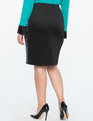 Two-Tone Sequin Pencil Skirt Teal + Pink