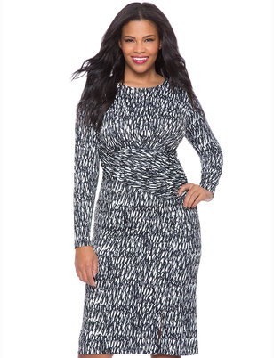 Printed Front Wrap Dress