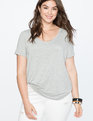 V-Neck Relaxed Tee Heather Grey