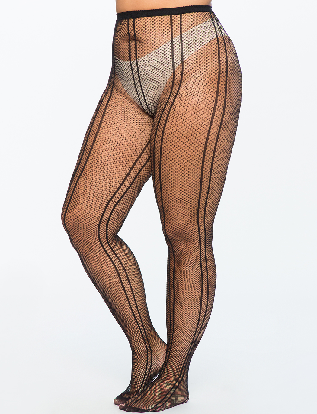 3c1611407 Seamed Fishnet Detail Tights