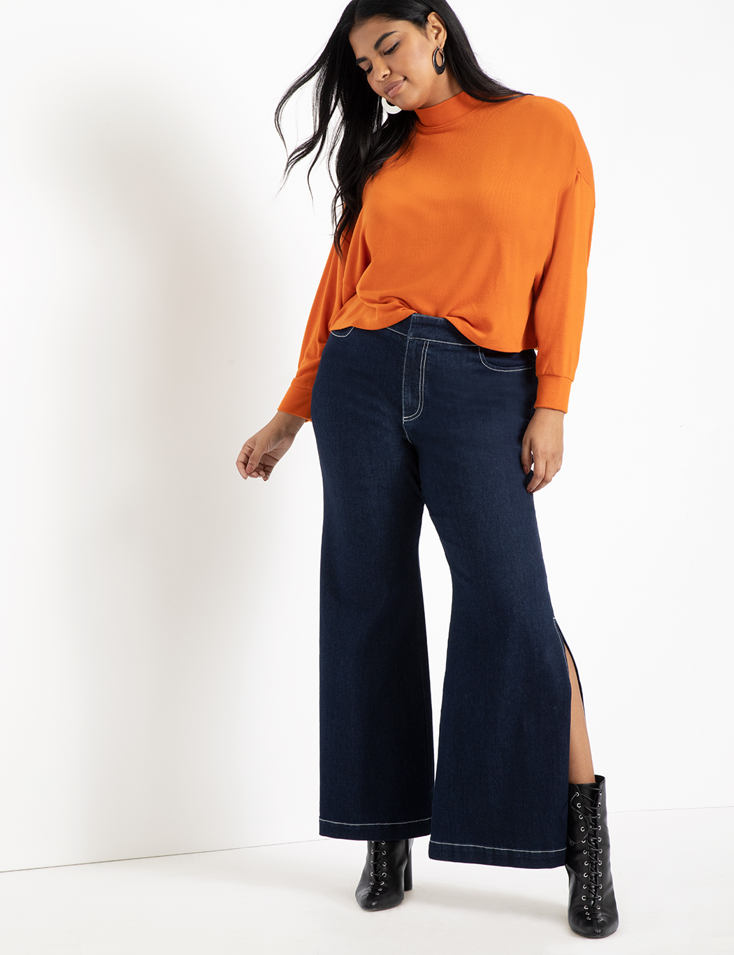 Side Slit Trouser Jean