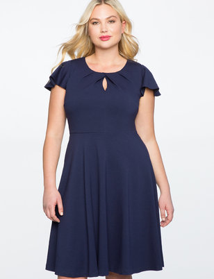 Keyhole Neckline Fit and Flare Dress  sc 1 st  Plus Size Dresses | ELOQUII & Plus Size Dresses | ELOQUII