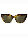 Tortoise Cat Eye with Tinted Lense Tortoise/Yellow