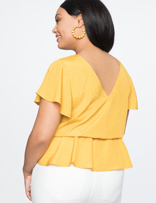 Twist Front Cut Out Blouse