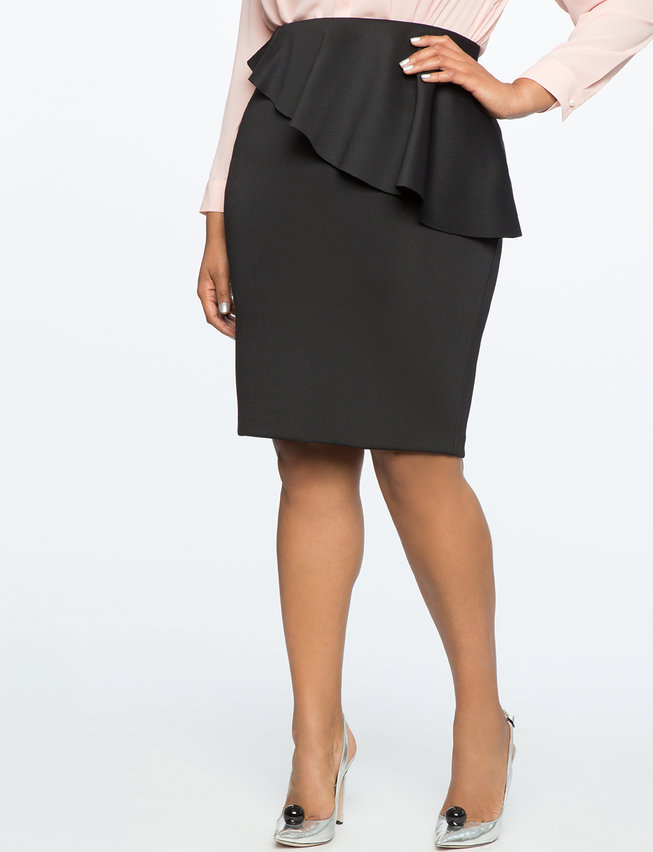 Pencil Skirt With Ruffle 78