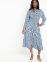 Relaxed Midi Collared Dress Floral