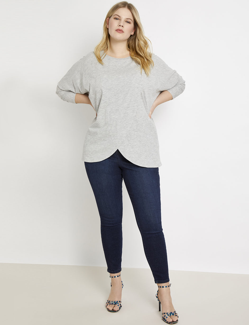 Dolman Sleeve Wrapped Tunic
