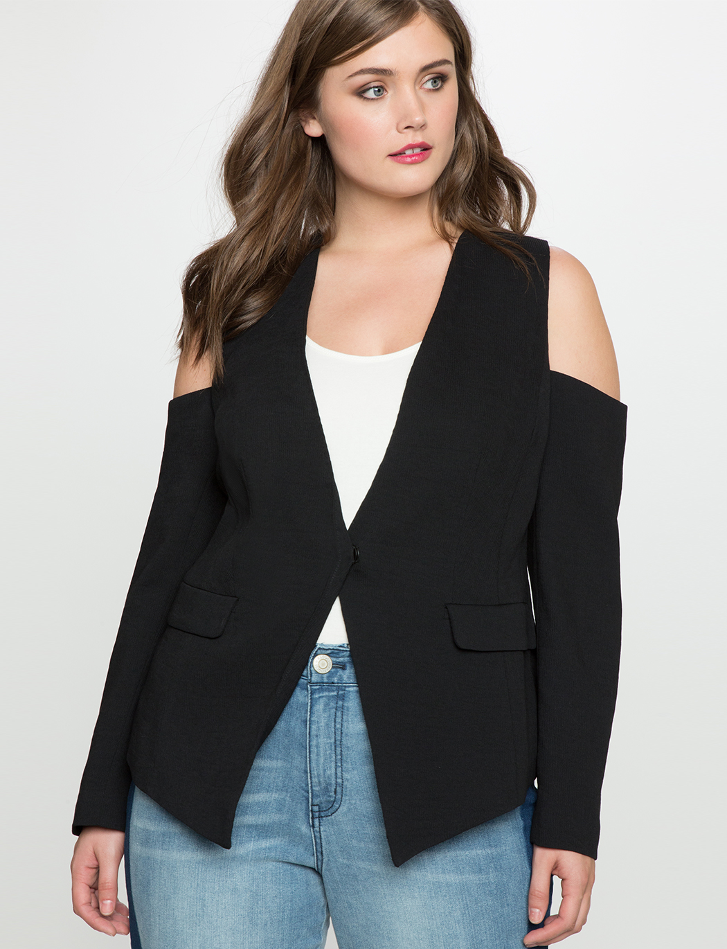 Cold Shoulder Blazer
