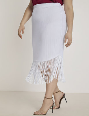 Fringe Pencil Skirt
