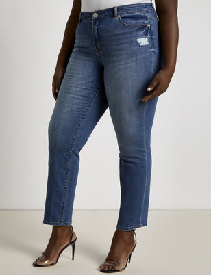 Essential Distressed Relaxed Slim Jean