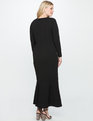 Cutout Neckline Gown BLACK