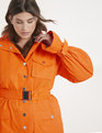 Priscilla Ono x ELOQUII Belted Cargo Dress Neon Orange