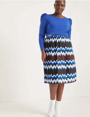 Printed Skirt with Pleats