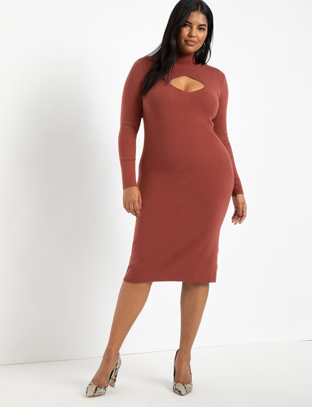 Cut Out Detail Sweater Dress