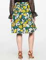Studio Printed Tie Midi Skirt BLOSSOMS UP YELLOW