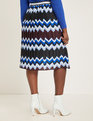 Printed Skirt with Pleats Symmetry in Motion