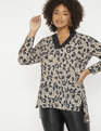 Easy V Neck Tunic Cheetah La Vida