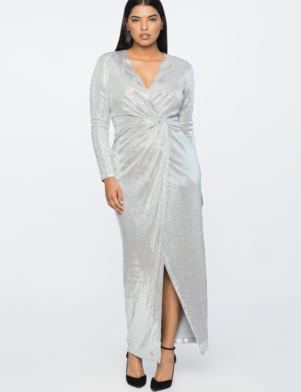 Jason Wu X ELOQUII Sequin Wrap Gown | Women\'s Plus Size Dresses | ELOQUII