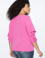 Ruffle 3/4 Sleeve Top LILAC