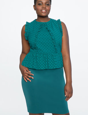 Eyelet Peplum Dress