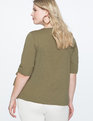 Drawstring Detail Tee BURNT OLIVE