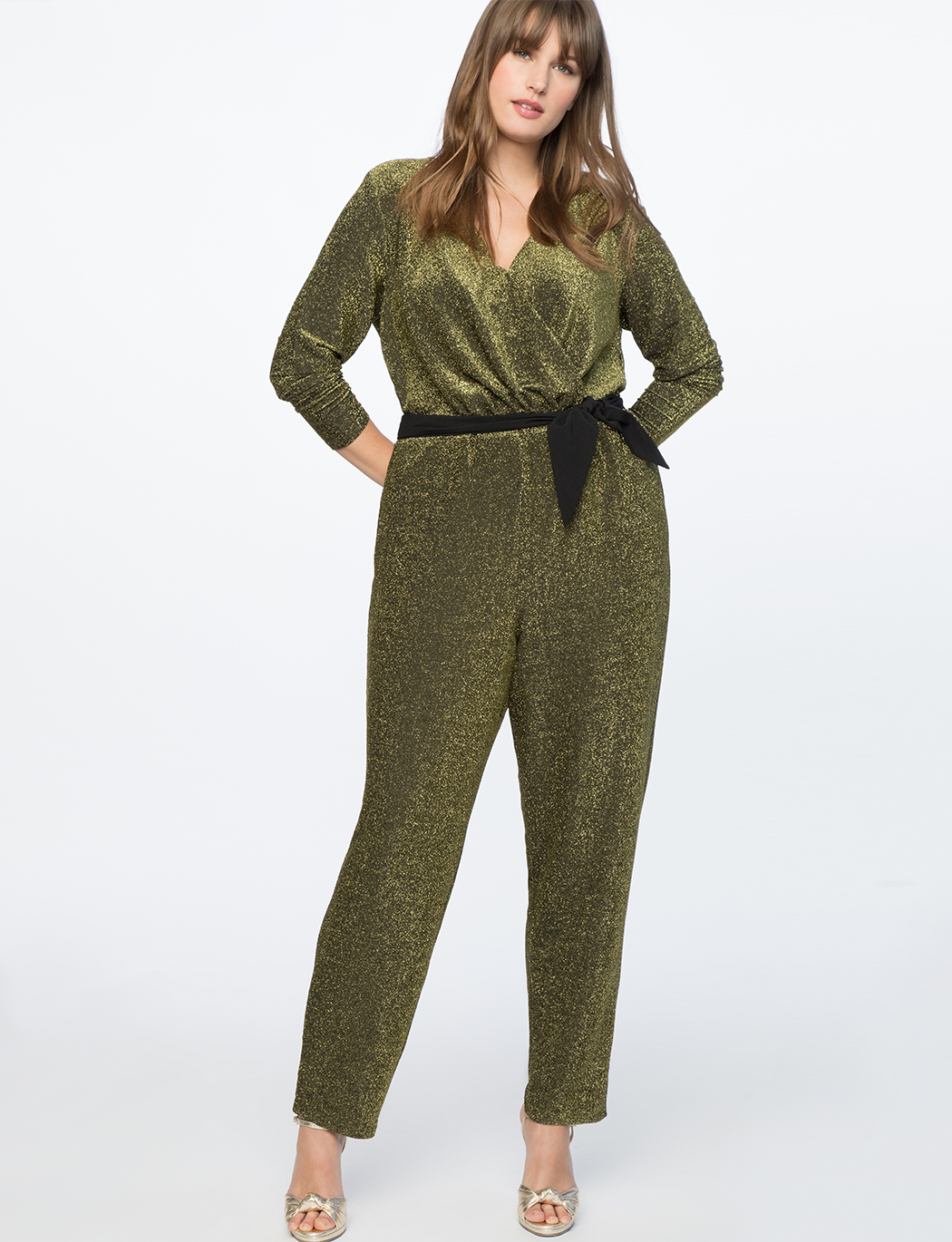 Full Sleeve Metallic Jumpsuit