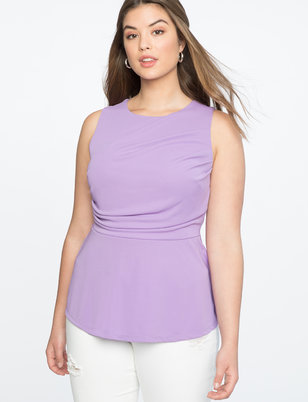 Gathered Bodice Peplum Top