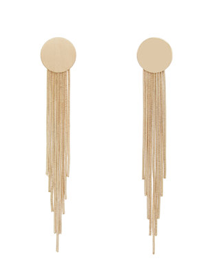 Stud Earring with Fringe