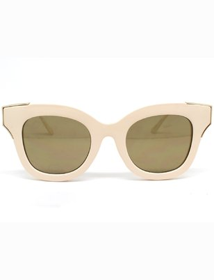 Nude Retro Frame Sunglasses