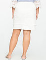 Double Fray Edge Denim Skirt WHITE