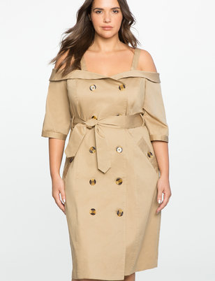 Studio Off the Shoulder Trench Dress
