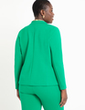 9-to-5 Stretch Work Blazer Vivid Emerald