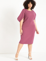 Textured Knit Dress Turkish Rose