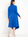 Keyhole Mock Neck Dress with Button Detail Surf the Web
